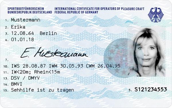 Neuer Sportboot-Führerschein im Scheckkarten-Format